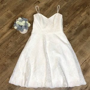 Watters classic simple white wedding dress 6